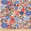 Liberty of London Tana Lawn Beth's Flower Brown/Red/Tangerine