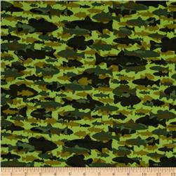 Timber Lodge Flannel Camo Fish Moss