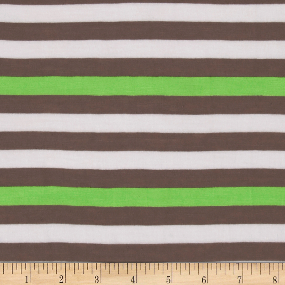 Jersey Knit 1/2 Stripe Gray/Neon Fabric by Stardom Specialty in USA
