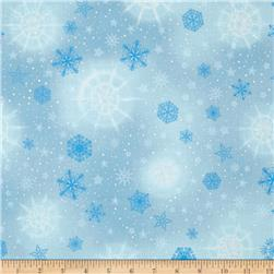 Robert Kaufman Radiant Holiday Metallic Snowflakes Frost