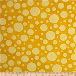 "110"" Wide Quilt Back Bubbles Yellow"