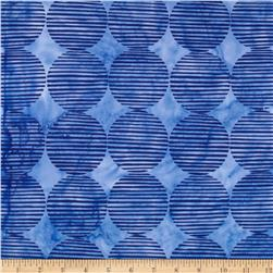 Island Batik Large Diamond Medium Blue