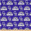 MLB Cotton Broadcloth Colorado Rockies Purple/Black