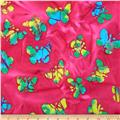 Indian Batiks Butterfly Hot Pink