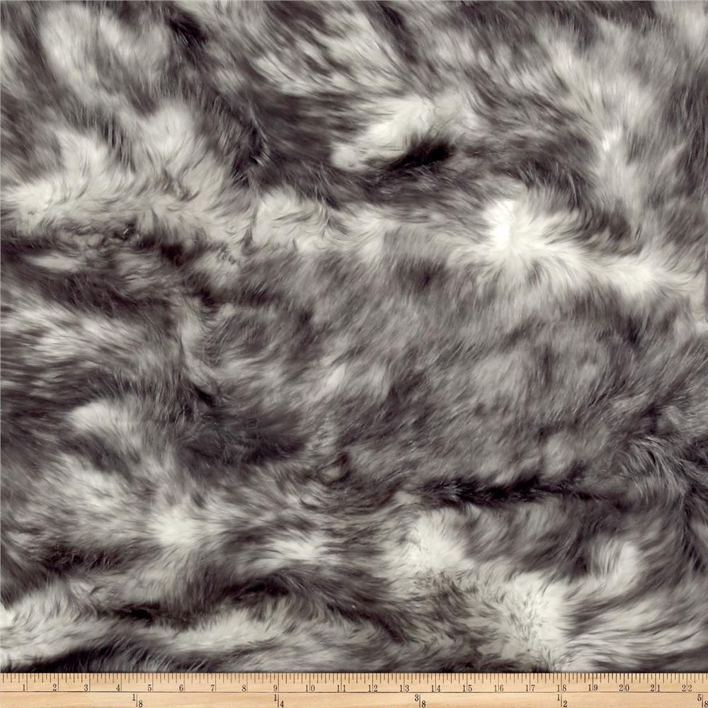 Luxury Faux Fur Candy Shag Gray