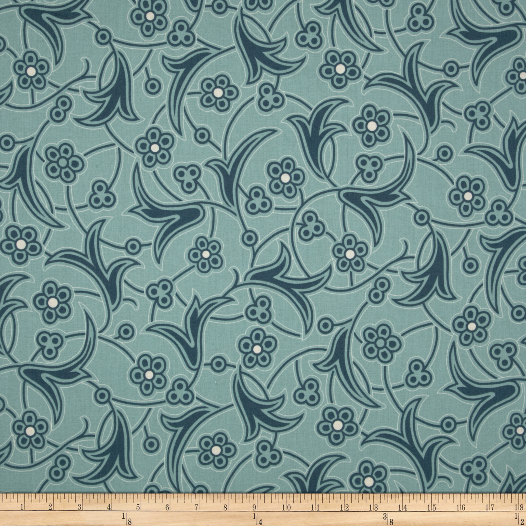 Downton Abbey Lady Edith Deco Floral Blue