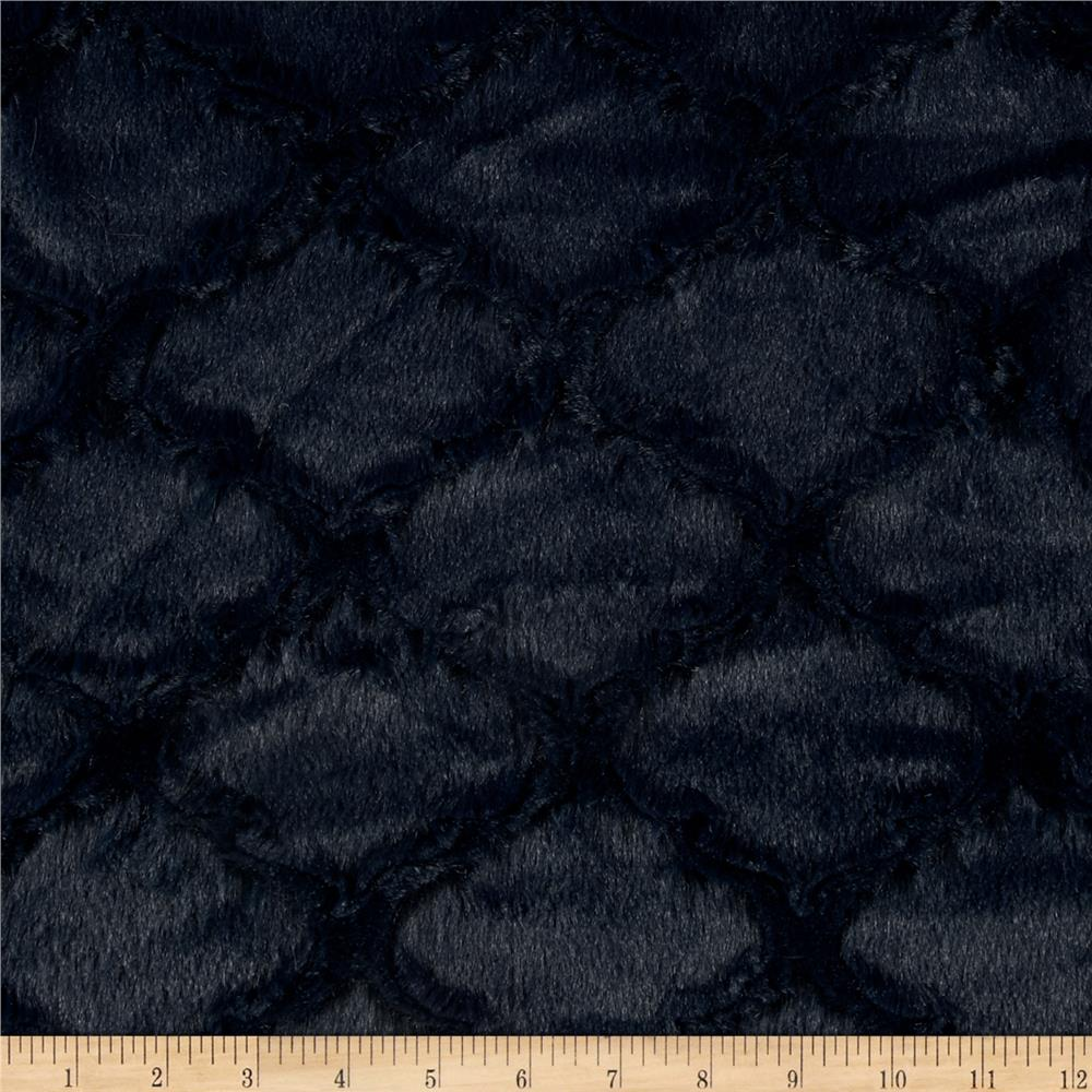 Minky Soft Lattice Cuddle Navy