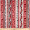 Kaufman Holiday Flourish Metallics Stripe Silver