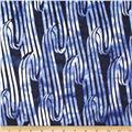 Island Batik Quilted in Honor Batik Patriotic Ribbon Navy