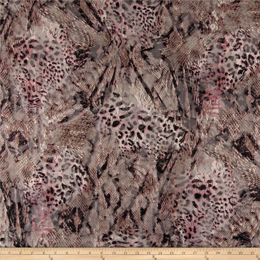 Stretch Safari Lace Rose/Taupe