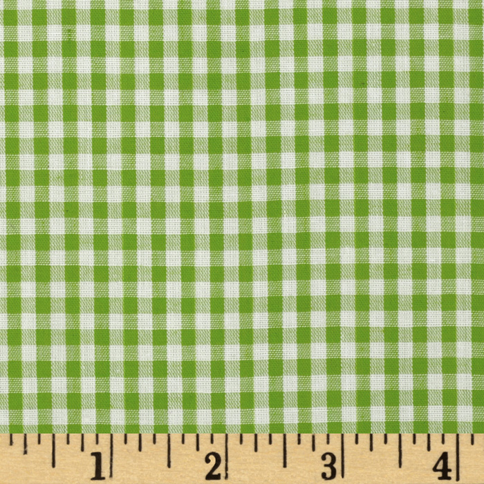 Woven 1/8'' Gingham Lime Fabric