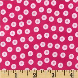 Lily's Garden Dot Toss Hot Pink Fabric