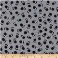 Kanvas Smudgy Cat Flannel Smudgy Paw Grey