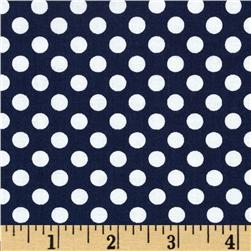 Riley Blake Dots Small Navy Fabric
