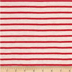 Stripe Jersey Knit White/Red
