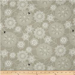 Cotton & Steel Spellbound Floral Web Taupe