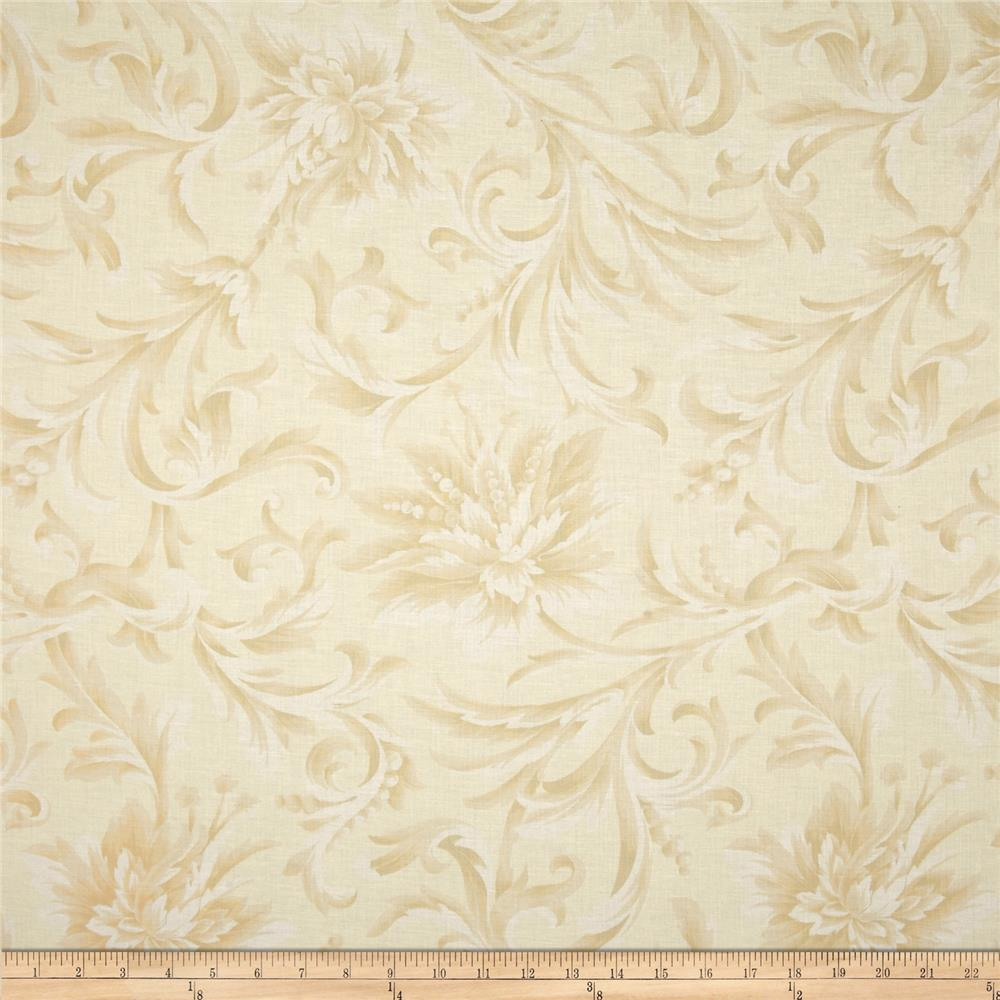 108'' Wide Quilt Backing Love & Liberty Floral Cream