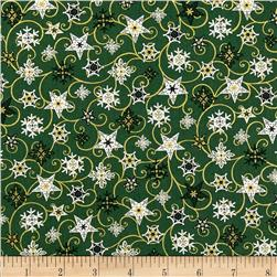Holiday Magic Twirling Stars Green