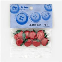 Dress It Up Embellisment Buttons  Button Fun Shiny Apple