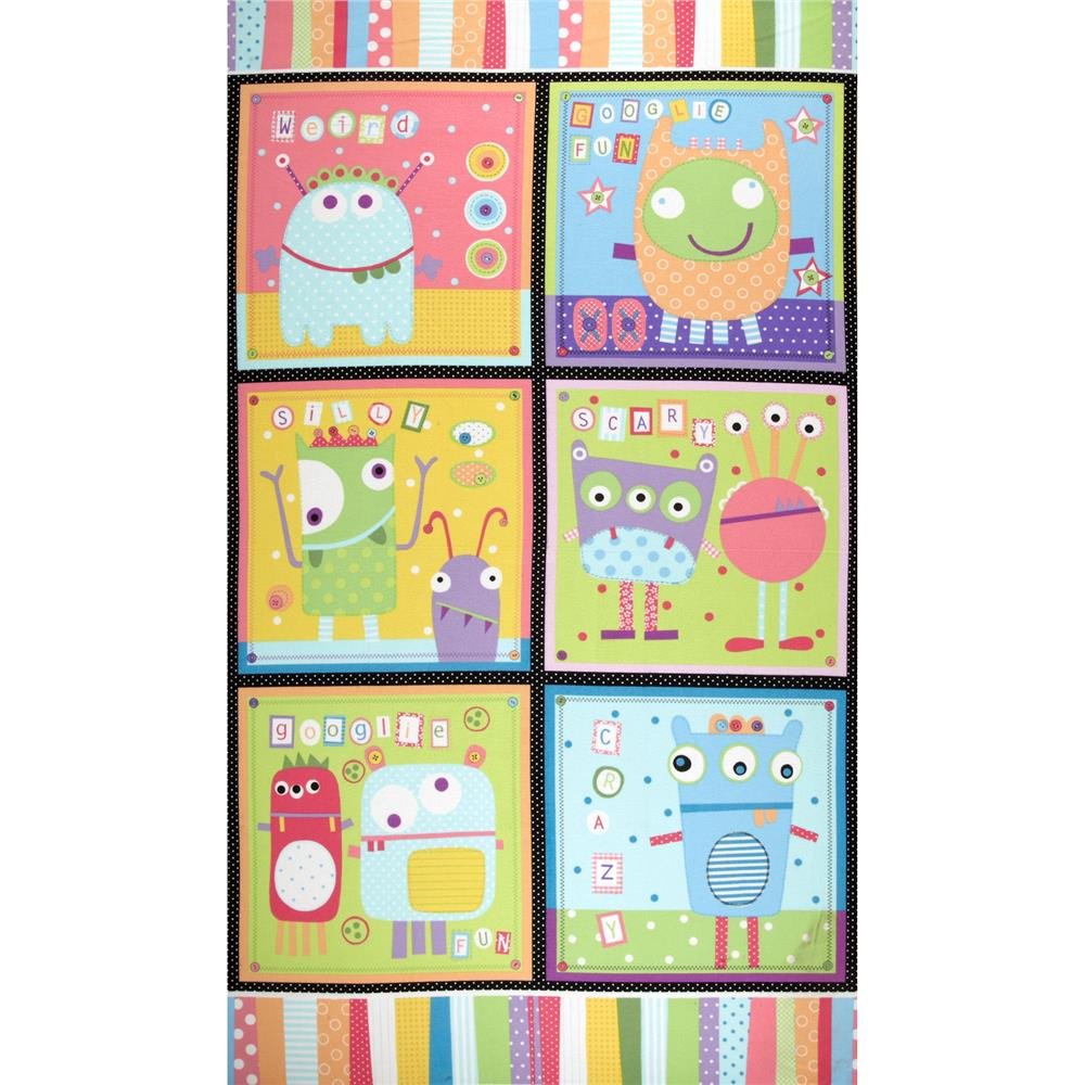 Googlies Flannel Pillow Panel Pastel