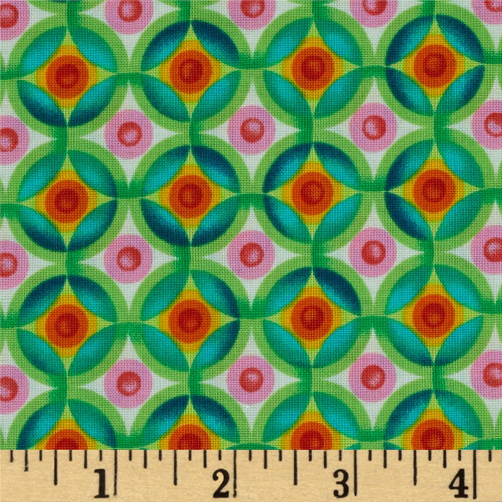 Kaufman Vivid Circle Plaid Bright