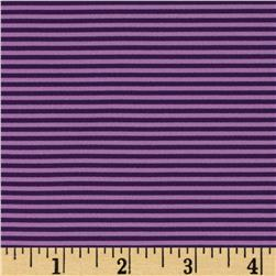 Poly Spandex Jersey Knit Stripes Purple/Lavender