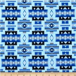 Tucson Flannel Blanket Blue
