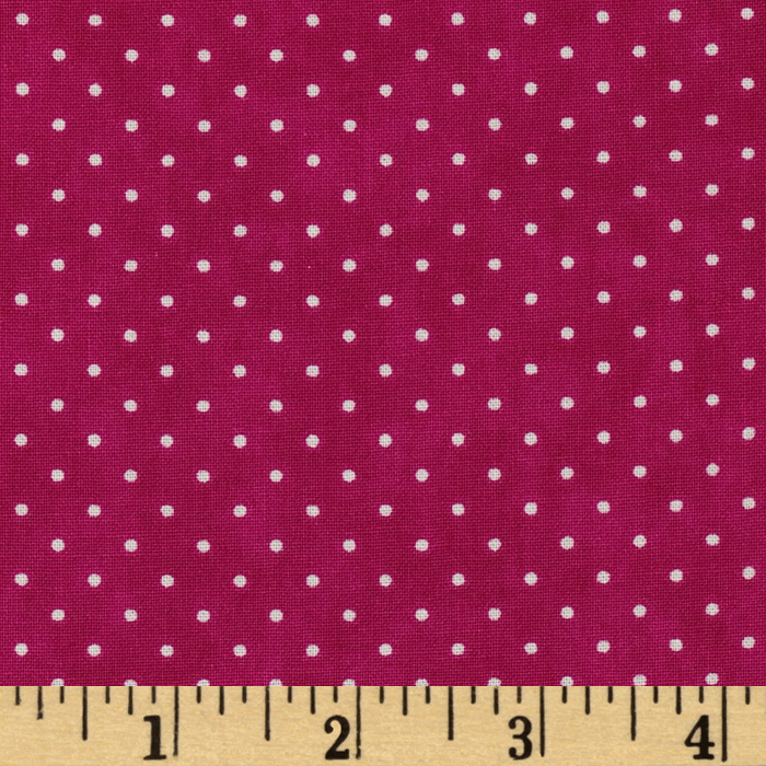 Moda Essential Dots (# 8654-31) Hot Pink Fabric