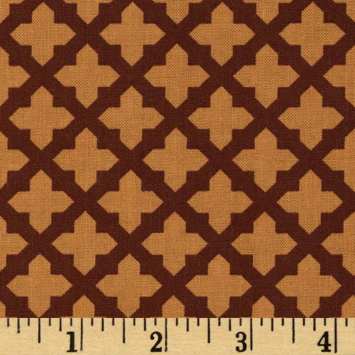Black & Tan Lattice Marigold