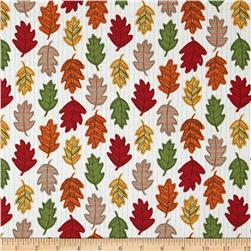 Moda Forest Fancy Falling Leaves Cream