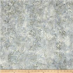 "106"" Wide Batavian Batik Quilt Back Bamboo Leaves Gray"