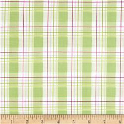 Tanya Whelan Zoey's Garden Faux Plaid Green