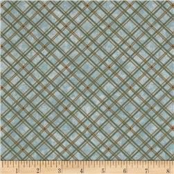 Buggy Barn Green Tea & Iced Mocha Bias Plaid Blue