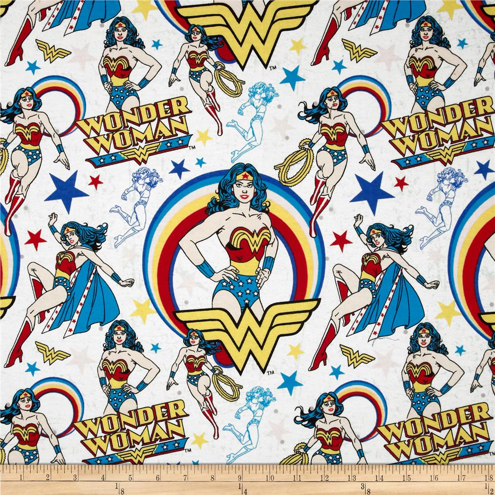 Wonder Woman Flannel White