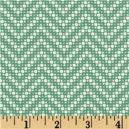 Moda Fresh Air Dotted Chevron Green
