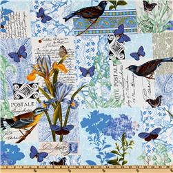 Michael Miller French Journal Collection Bleu Paris Blue