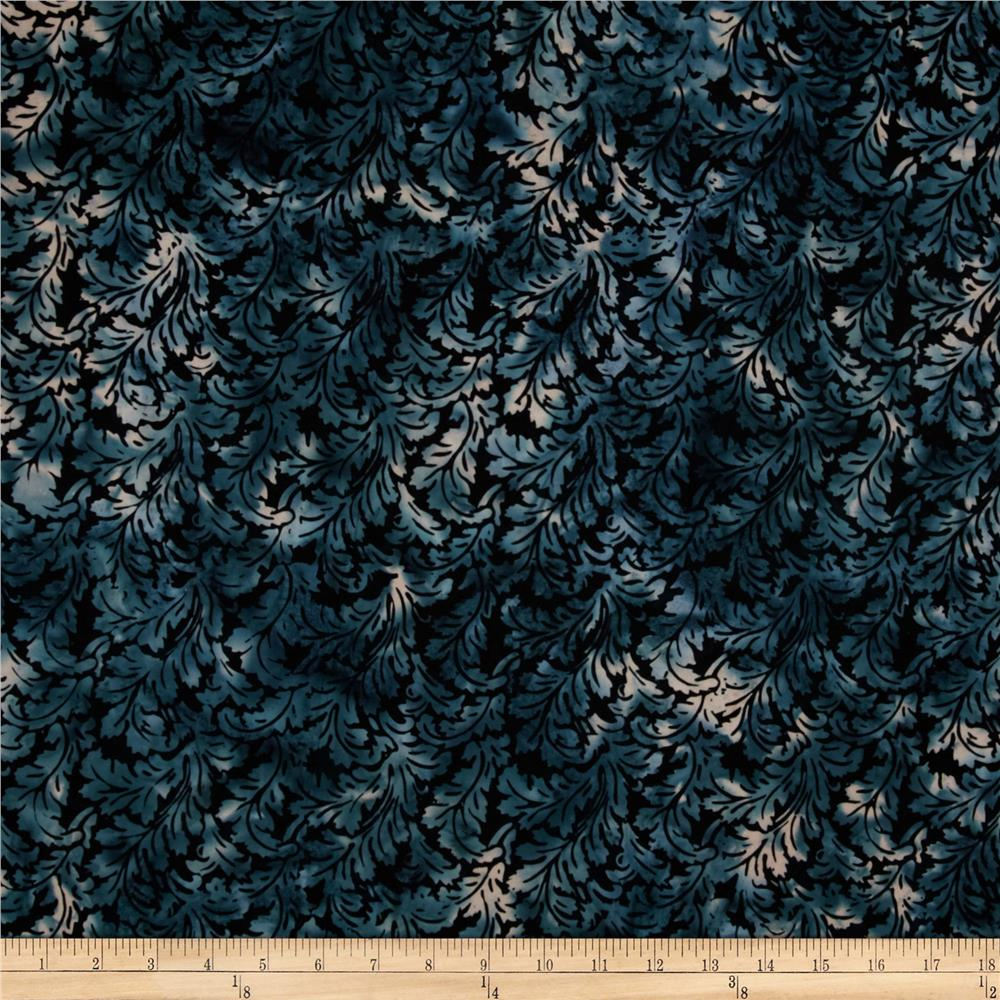 Bali Batiks Handpaints Leafy Damask Moonstruck