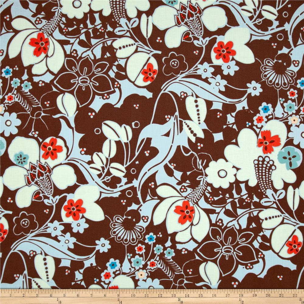 Oska Floral Chocolate/Blue