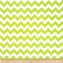 Riley Blake Wide Cut Chevron Medium Lime Fabric
