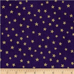 Christmas Metallic Star Purple