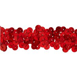 Team Spirit #30 Sequin Trim Red Spot