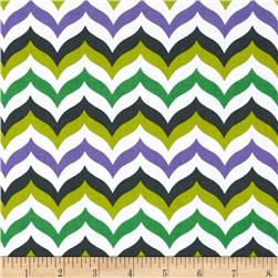 Let's Play Dolls Chevron Purple/Green