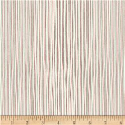 Moda Red Dot Green Dash Holiday Stripe Multi