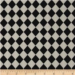 Crepe De Chine Harlequin White/Black