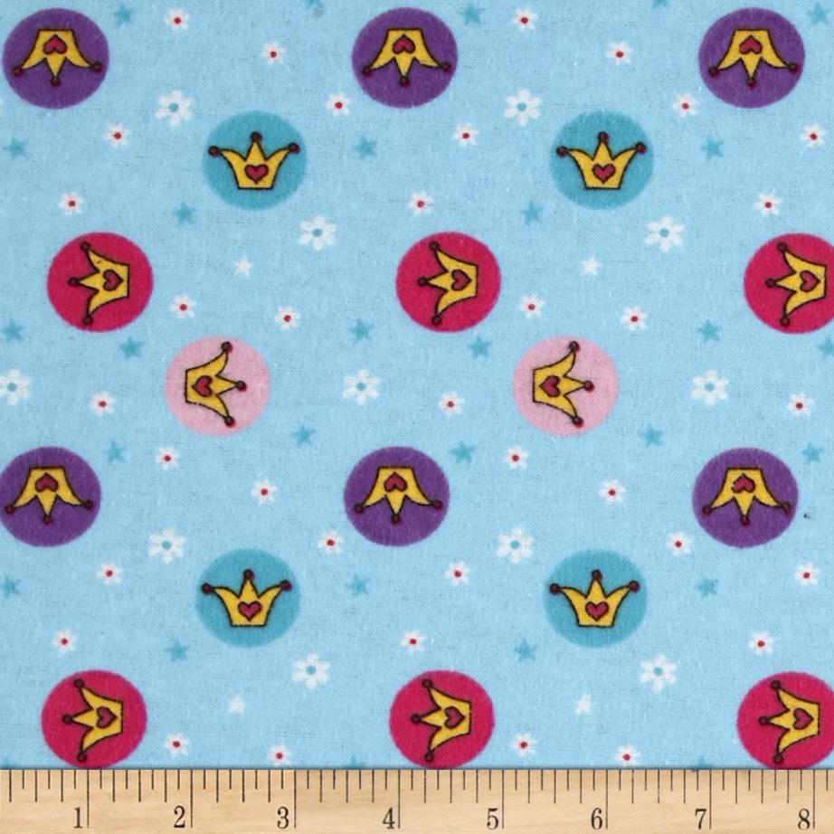 Teddy Bear Princess Flannel Crown Toss Blue