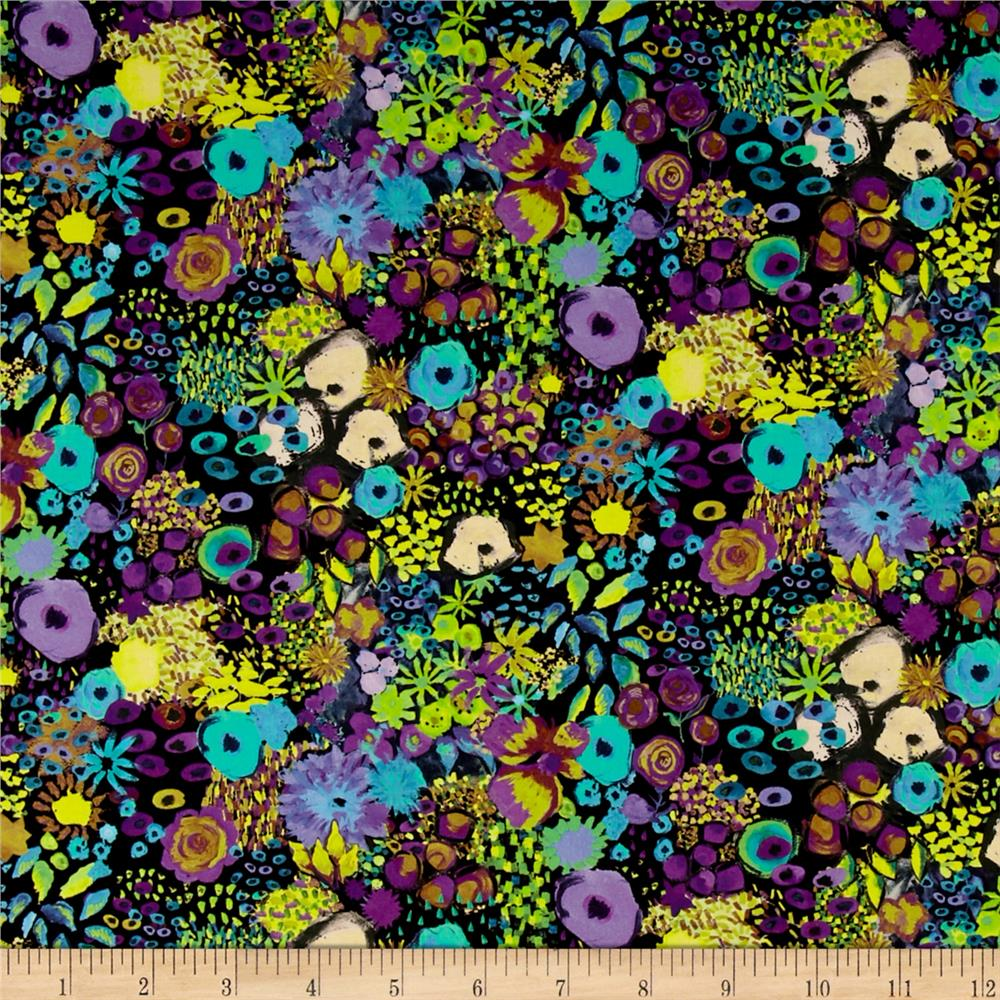 Liberty of London Tana Lawn Small Artist's Bloom Black