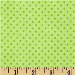 Flannel Mini Dots Tonal Lime