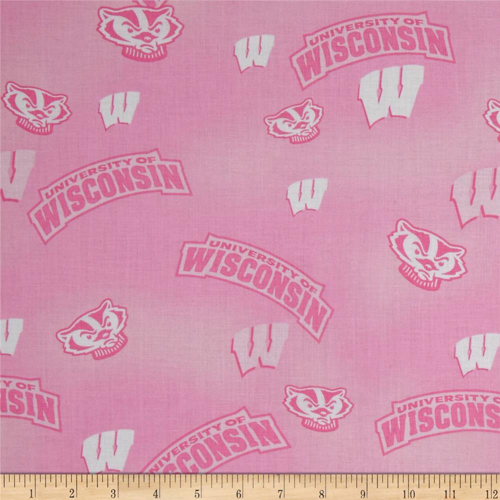 Collegiate Cotton Broadcloth Wisconsin Pink
