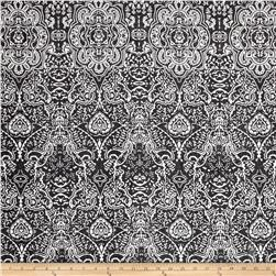 Picasso Rayon Poplin New Damask Black/White