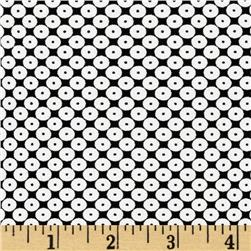 Dots Right Sequin Dot White/Black Fabric